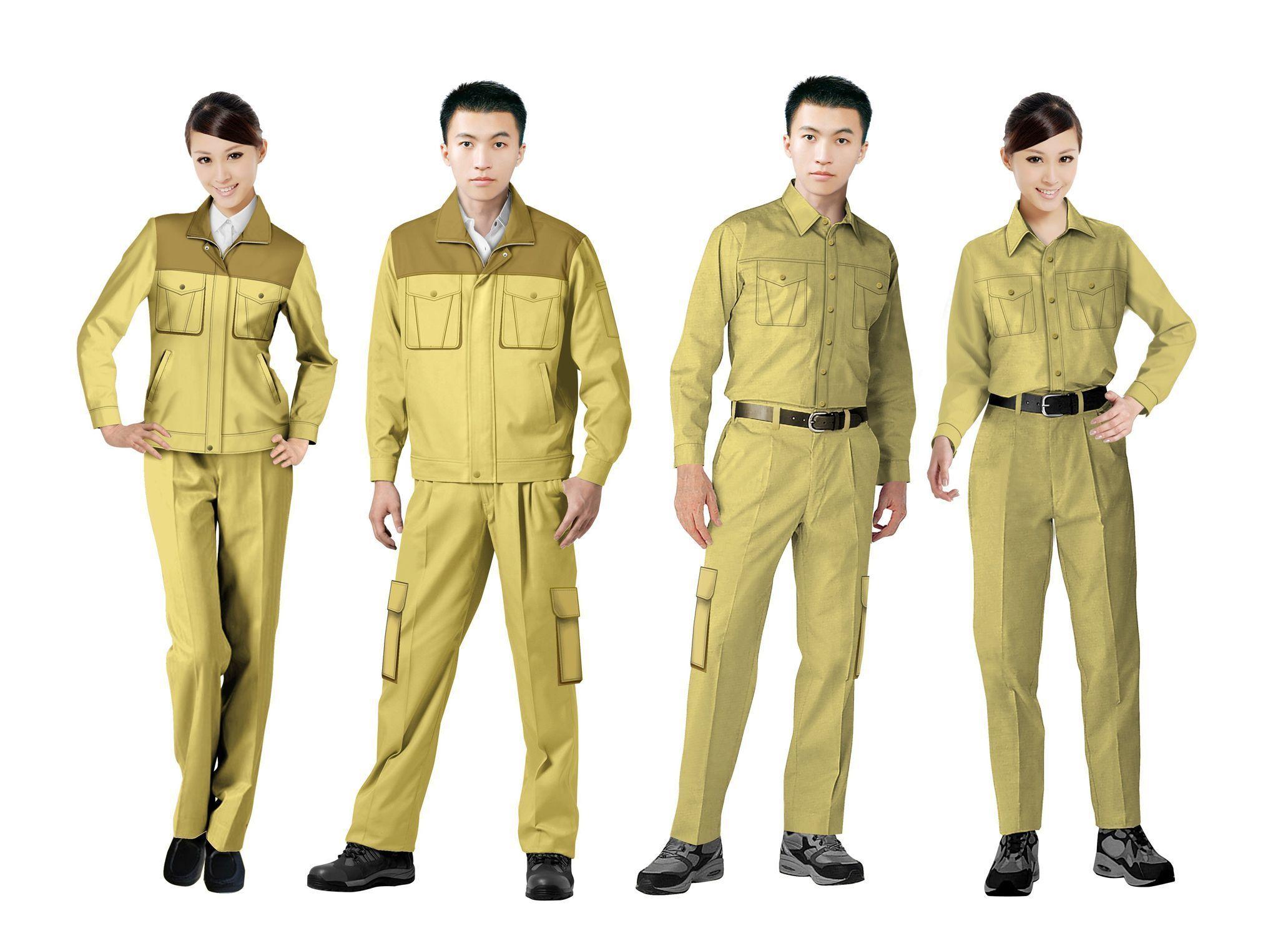 工作服设计图系列方案07